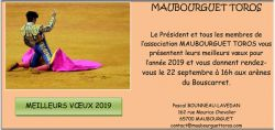 Lire la suite : Maubourguet 2019 : Modification de date de la Novillada...